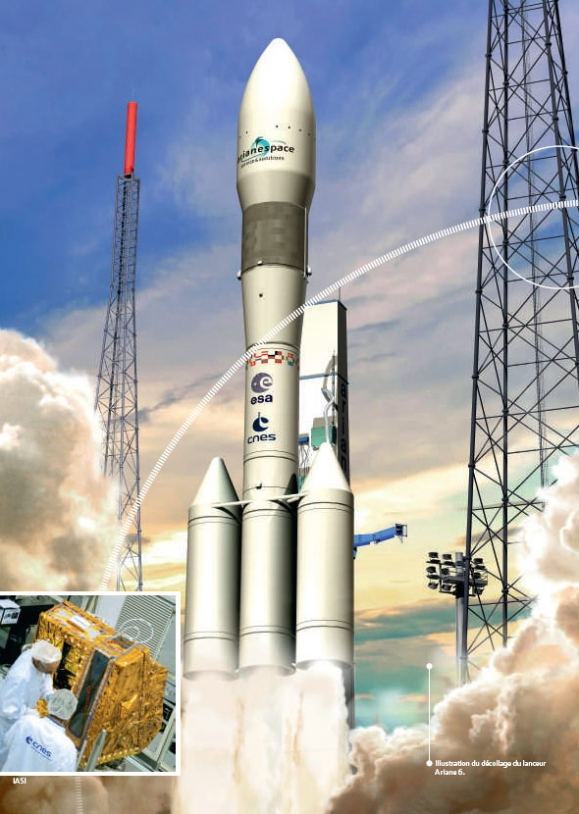 Illustration d'Ariane 6 au décollage © ESA/CNES – Active Design 2014